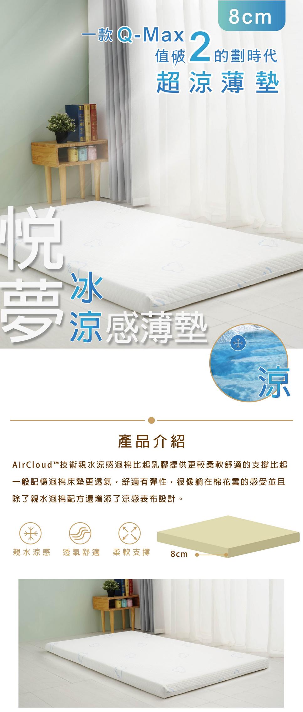 Air Cloud™冰涼薄墊1